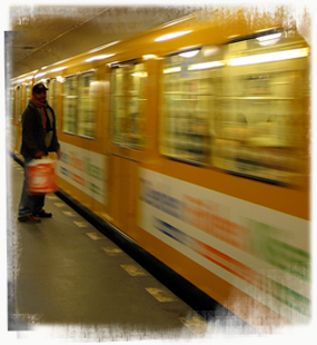 How is news packaged for the U-Bahn's captive readership? - by SL Wong