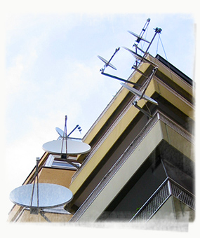 Neukoelln flats with satellite dishes. - by SK Mandal