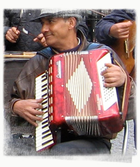 Music by buskers such this Roma troupe can liven up Berlin's drearier days. - by SK Mandal