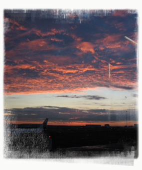 Dawn at Amsterdam Airport Schipol. - by SL Wong