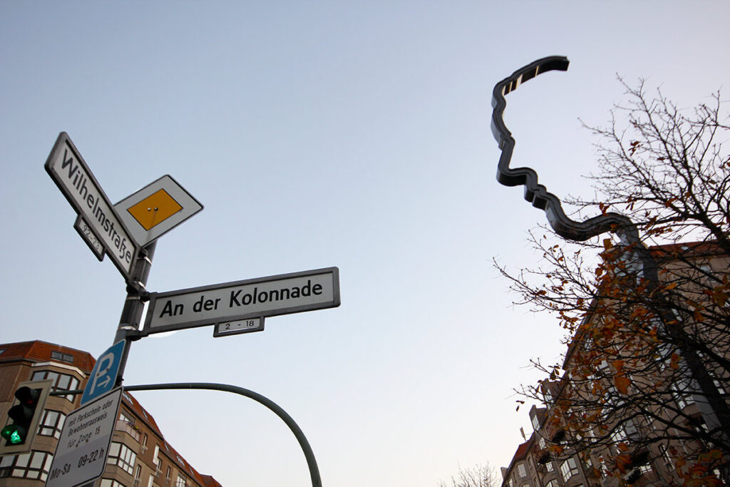 The Georg Elser monument is located on Wilhemstr, where Hitler's Chancellory once stood. - <em>by SL Wong</em>