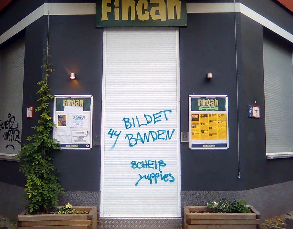 Messages against gentrification started proliferating throughout Neukölln in 2011. - <em>by SL Wong</em>